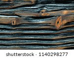 brown obsolete wooden board top ... | Shutterstock . vector #1140298277