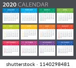 2020 calendar   vector...   Shutterstock .eps vector #1140298481