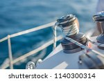sailing background concept.... | Shutterstock . vector #1140300314