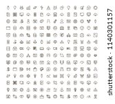 machine learning icon set.... | Shutterstock .eps vector #1140301157