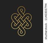 traditional buddhist symbol of... | Shutterstock .eps vector #1140303794