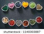 various colorful superfoods as... | Shutterstock . vector #1140303887