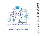 businessmen shake hands with... | Shutterstock .eps vector #1140308177