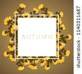 autumn background with autumn... | Shutterstock .eps vector #1140311687