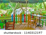 the summer terrace of cafe in... | Shutterstock . vector #1140312197