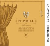 vector playbill with place for... | Shutterstock .eps vector #1140312407
