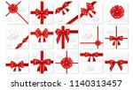 big set of realistic gift card... | Shutterstock .eps vector #1140313457