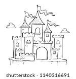 castle hand drawn | Shutterstock .eps vector #1140316691