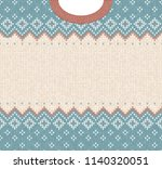 ugly sweater merry christmas... | Shutterstock .eps vector #1140320051