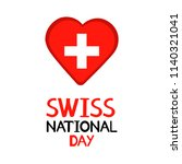 swiss national day. colorful...   Shutterstock .eps vector #1140321041