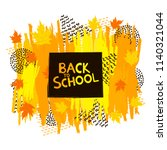 back to school background with...   Shutterstock .eps vector #1140321044