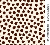 chocolate chip cookies texture. ... | Shutterstock .eps vector #1140322097