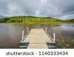 dock on pendleton lake  at...   Shutterstock . vector #1140333434