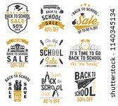 back to school design. for... | Shutterstock . vector #1140345134