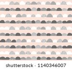 hand drawn abstract vector... | Shutterstock .eps vector #1140346007