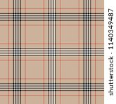 tartan traditional checkered... | Shutterstock .eps vector #1140349487