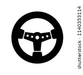automobile steering wheel icon... | Shutterstock .eps vector #1140353114