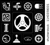 set of 13 simple editable icons ...   Shutterstock .eps vector #1140358031