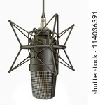 Studio Microphone Isolated On ...
