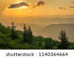 sunrise view from bear rocks...   Shutterstock . vector #1140364664