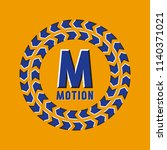optical illusion motion logo in ... | Shutterstock .eps vector #1140371021