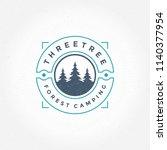 forest camping logo emblem... | Shutterstock .eps vector #1140377954