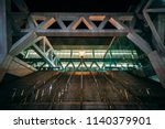 the convention center at night  ... | Shutterstock . vector #1140379901