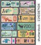 zoo tickets vintage design of... | Shutterstock .eps vector #1140387434