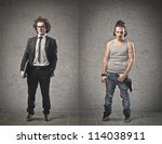 Businessman In Contrast With An ...