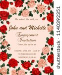 save the date engagement... | Shutterstock .eps vector #1140392351