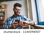 smiling successful hipster guy...   Shutterstock . vector #1140398507