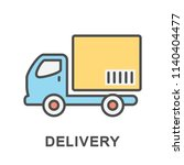 icon delivery. the truck... | Shutterstock .eps vector #1140404477