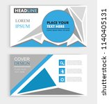 abstract modern business card... | Shutterstock .eps vector #1140405131