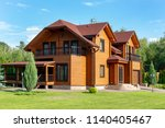 beautiful luxury big wooden... | Shutterstock . vector #1140405467