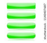 green menu buttons. rectangle... | Shutterstock .eps vector #1140407687