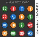 musical web icons for user... | Shutterstock .eps vector #1140413921