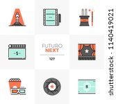 modern flat icons set of film... | Shutterstock .eps vector #1140419021