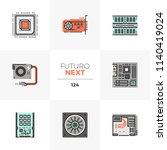 modern flat icons set of... | Shutterstock .eps vector #1140419024