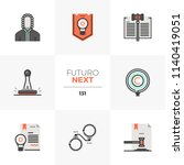 modern flat icons set of... | Shutterstock .eps vector #1140419051