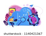 developers drawing chart ... | Shutterstock .eps vector #1140421367