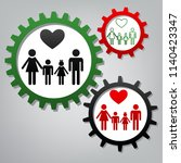 family symbol with heart.... | Shutterstock .eps vector #1140423347