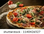 caesar pizza. | Shutterstock . vector #1140426527