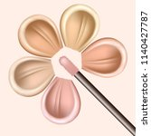 smears of foundation for face.... | Shutterstock .eps vector #1140427787