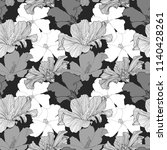 vector hand drawn tropical... | Shutterstock .eps vector #1140428261