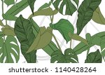 vector tropical seamless... | Shutterstock .eps vector #1140428264