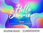 summer sale background layout... | Shutterstock .eps vector #1140433454