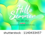 summer sale background layout... | Shutterstock .eps vector #1140433457