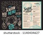 seafood menu for restaurant.... | Shutterstock .eps vector #1140434627