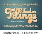 fancy vector alphabet set with... | Shutterstock .eps vector #1140441494