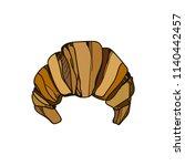 croissant.vector hand drawn... | Shutterstock .eps vector #1140442457